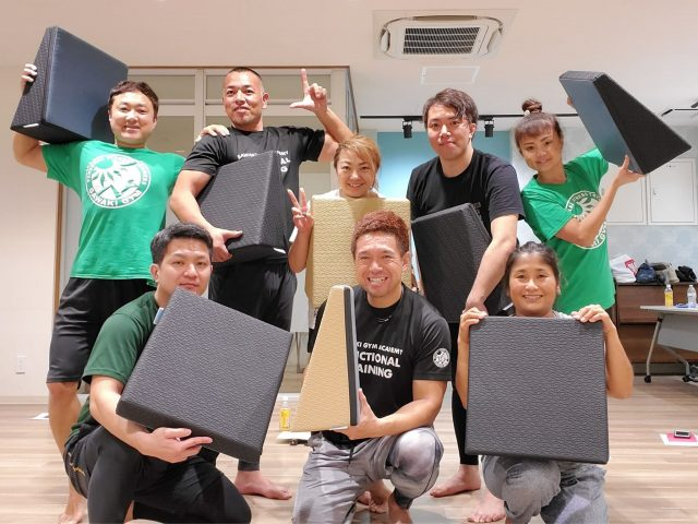 【レポート更新】ストレッチ&エクササイズで使えるフレックスクッション(沖縄)
