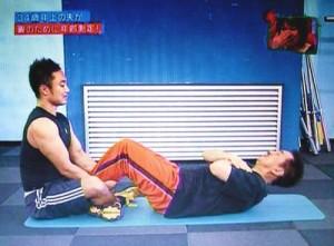 田中さんは腹筋で驚異的な強さを発揮され、驚きました